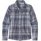 Patagonia Fjord Lightweight Camicia a maniche lunghe Uomo blu